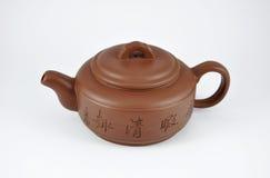 茶的黏土茶壶 免版税库存图片