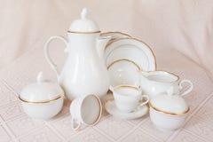 茶矿石咖啡喝的盘 库存图片