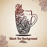茶背景,传染媒介例证 向量例证