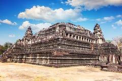 茶胶寺寺庙在吴哥窟,柬埔寨 免版税库存图片