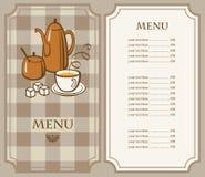 茶菜单 免版税库存照片
