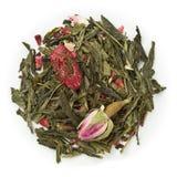 绿茶蓝莓和莓 免版税库存图片