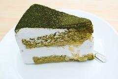 绿茶蛋糕。 库存图片