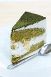 绿茶蛋糕。 免版税库存图片