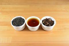 茶过程 库存照片