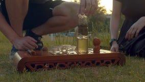 茶道在公园 影视素材