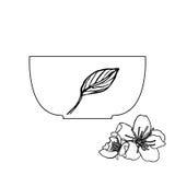 茶道杯子传染媒介例证 免版税库存图片