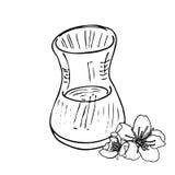 茶道杯子传染媒介例证 免版税图库摄影