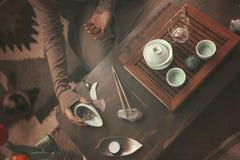 茶道的准备 免版税图库摄影