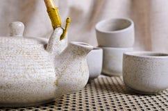 茶道的陶瓷集合 库存图片