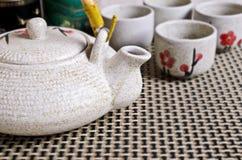 茶道的陶瓷集合 免版税图库摄影