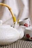 茶道的陶瓷集合 图库摄影