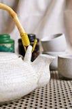 茶道的陶瓷集合 免版税库存图片