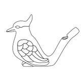 茶道茶宠物鸟传染媒介例证 免版税库存照片