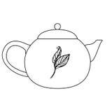 茶道茶罐传染媒介例证 库存图片