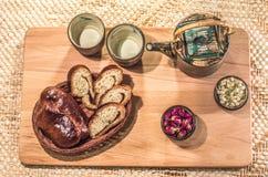 茶饮用的仪式 免版税库存照片