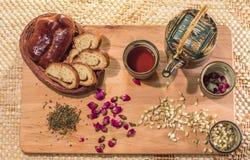 茶饮用的仪式 免版税图库摄影