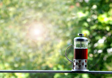 茶绿色背景 免版税库存照片