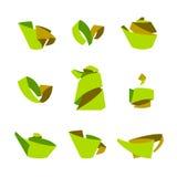 茶 从被折叠的小条的时髦的元素 库存照片