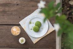 绿茶macarons -储蓄图象 免版税库存图片