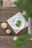 绿茶macarons -储蓄图象 库存图片