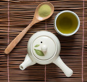 绿茶matcha 库存图片