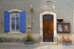 茹卡市政厅在普罗旺斯 免版税库存照片