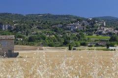 茹卡村庄在普罗旺斯 图库摄影