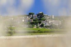 茹卡村庄在普罗旺斯 免版税图库摄影