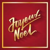 茹瓦约诺亚-从法国手写的文本,印刷术,手字法,书法的圣诞快乐 免版税库存图片