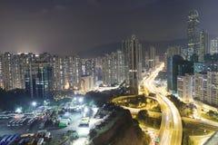 荃湾高速公路hk看法  免版税库存照片