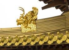 荆山一个金黄龙细节 库存照片