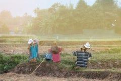 稻草人喜欢戴帽子的A人的一个图象 免版税图库摄影
