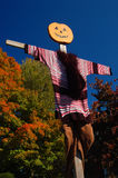 稻草人在秋天 库存照片