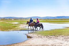 草原在内蒙古,中国 免版税图库摄影