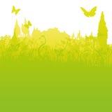 草叶、一点镇和旅游业 库存照片