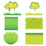 草和灌木 库存例证