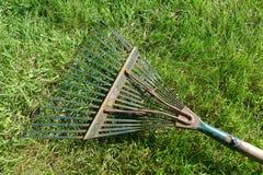 草和犁耙 免版税库存照片