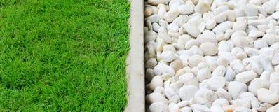 绿草和石头 库存照片