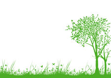 草和结构树 向量例证