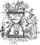 草图乱画: 时间 免版税库存照片