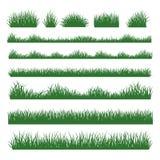 草在背景设置的剪影边界 免版税图库摄影