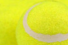 草地网球运动球特写镜头 免版税图库摄影