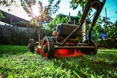 草坪割-夏天草坪割 免版税库存图片