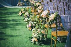 草坪婚礼的角落 库存图片