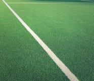 草坪网球场线特写镜头  免版税库存照片