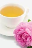 草本粉红色玫瑰色茶 免版税库存图片