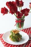 草本蘑菇薄煎饼 库存照片