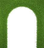 绿草框架,作为对生气勃勃的一个门户 库存例证