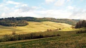 草甸和谷在山3 免版税库存照片